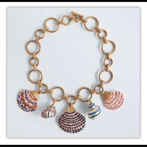 Zara Enameled Shell Chain Necklace